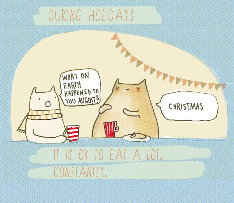 A kind reminder #5 | Blogging drawings. And cats.